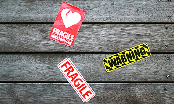 WARNING-FRAGILE STICKER