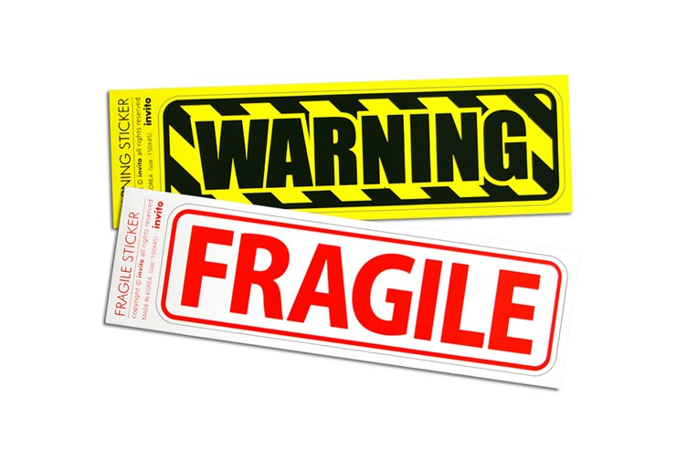 WARNING-FRAGILE STICKER