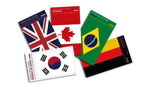 WORLD FLAGS STICKER
